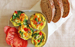 5 minute veggie egg muffin recipe