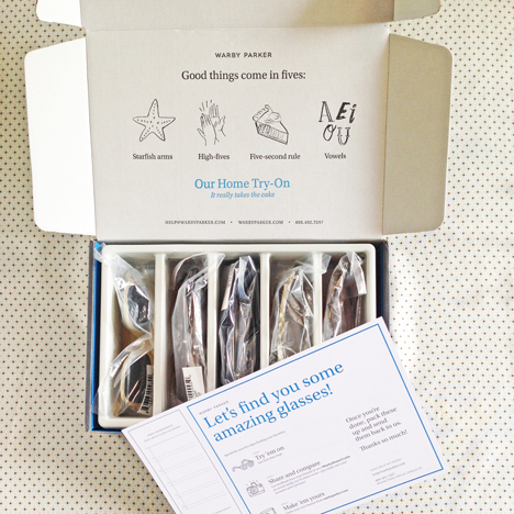 Warby Parker Home Try-On Box