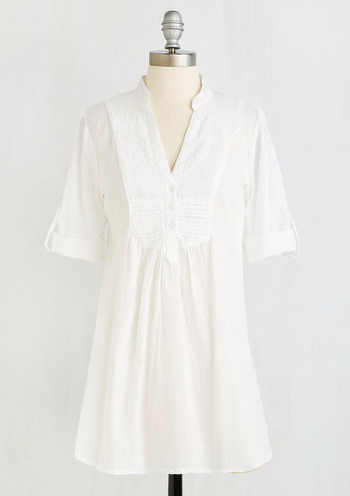 white cotton tunic
