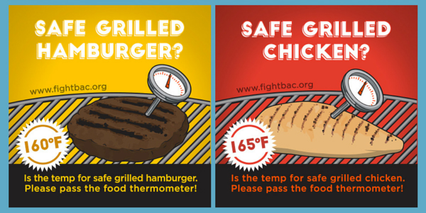 chicken and hamburger food safety
