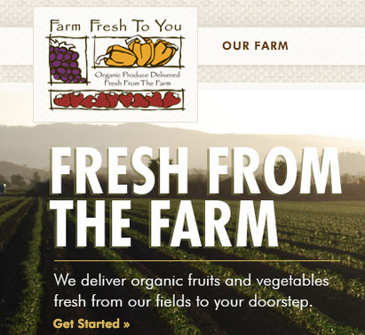 Local cooperatives like Farm Fresh To You will deliver local farm produce every week.