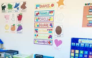 This home based preschool is a colorful representation of what to look forward when choosing a preschool.