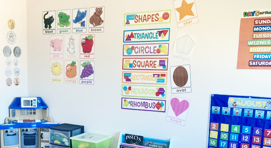 This home based preschool is a great example of the types of things you want to look for when choosing a preschool.