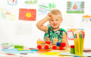 Happy boy in preschool - don't be nervous about your child starting preschool