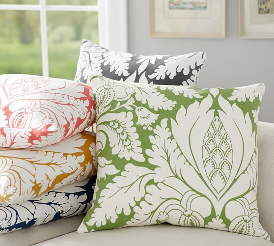 Damask Print Pillow Cover (Pottery Barn, $29.50)